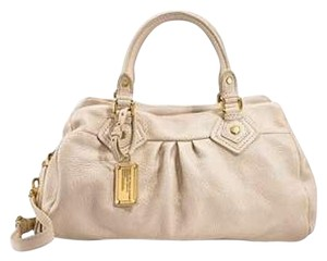 Marc by Marc Jacobs Leather Satchel in Cream