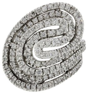 Sonia B Bitton Sonia B Bitton 14k White Gold 1.50ctw Diamond Swirl Cocktail Ring