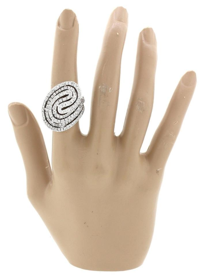 rings sterling cz ring silver swirl jewelry clear