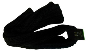 Mix It Warm Black Cable Knit Winter Scarf For Women