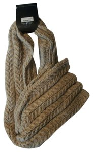 Mix It Warm Camel Heather Cable Knit Winter Scarf