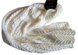 Mix It Warm Soft Ivory Cable Knit Winter Scarf For Women