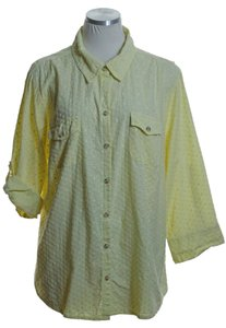 Croft & Barrow Button Down Shirt Yellow