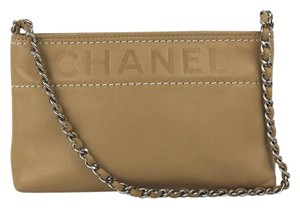 Chanel Wristlet in Tan