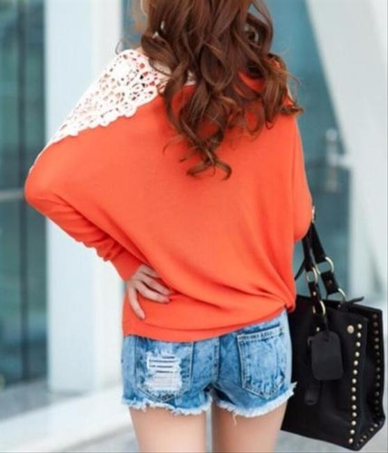 Other P2284 Size Medium Long Sleeves Top orange and ivory Image 1