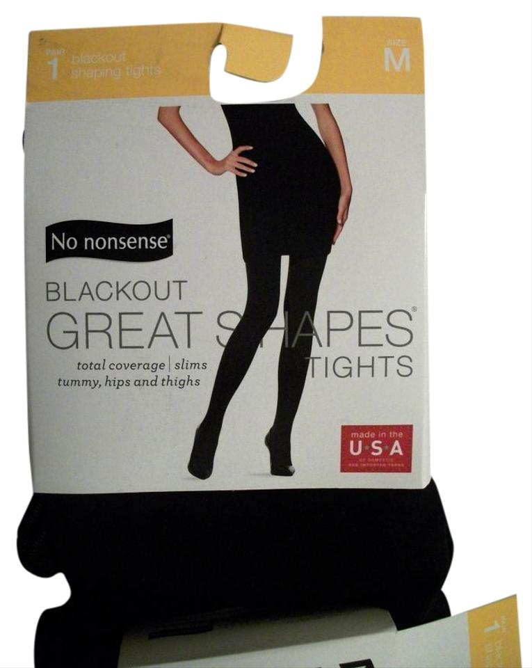 09f3d706c8d80 Other Two Packages No Nonsense Blackout Great Shapes Tights Size Medium  Image 0 ...