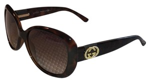 Gucci Gucci Rhinestone-Trim Oversized Butterfly Sunglasses, Havana GG 3644/N/S Includes Case, Certificate Of Authenticity, Cleaning Cloth, Information Packet