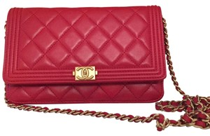 Chanel Woc Quilted Cross Body Bag