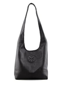 Tory Burch Leather Slouchy Marion Whipstiched Hobo Bag