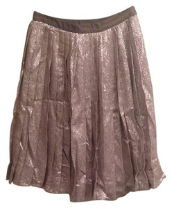 Lela Rose Skirt Metallic silver/pewter
