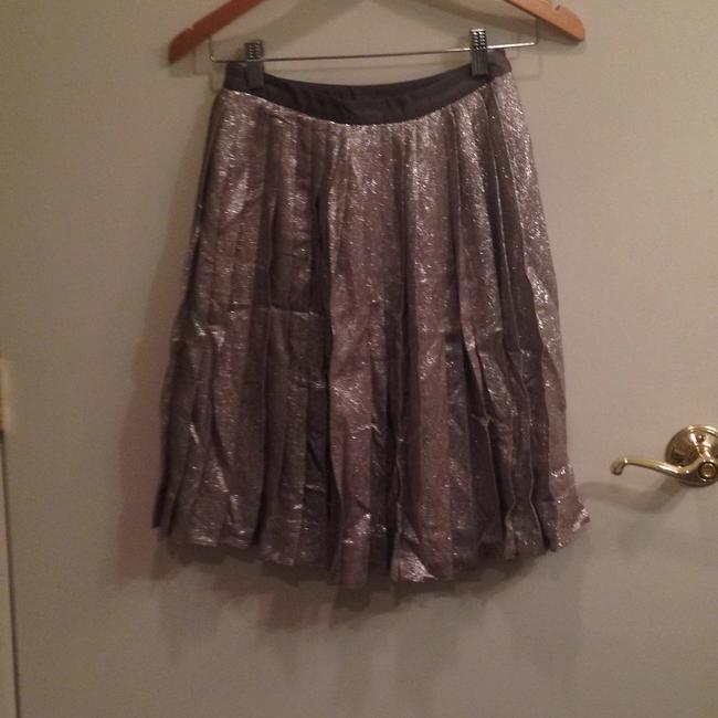 Lela Rose Skirt Metallic silver/pewter Image 1
