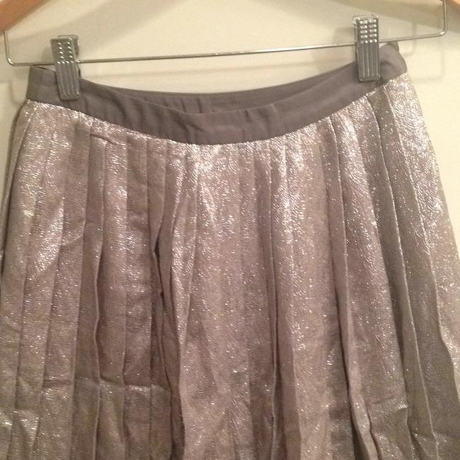 Lela Rose Skirt Metallic silver/pewter Image 2