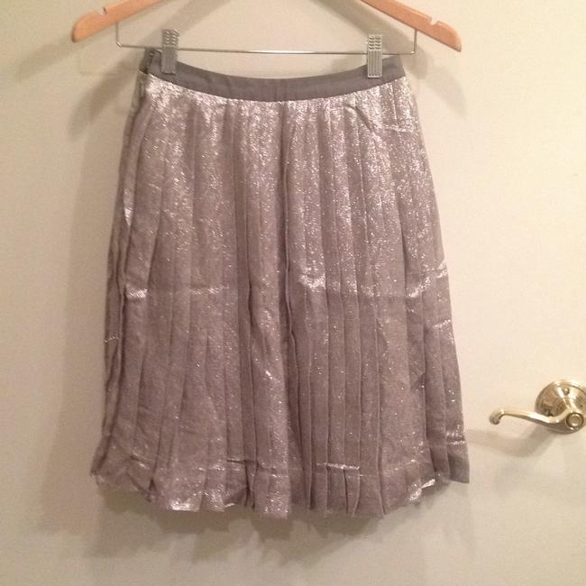 Lela Rose Skirt Metallic silver/pewter Image 4