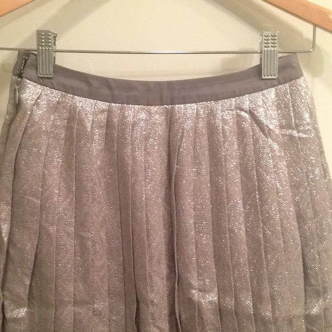 Lela Rose Skirt Metallic silver/pewter Image 5
