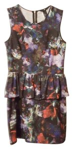 H&M short dress Floral/black on Tradesy