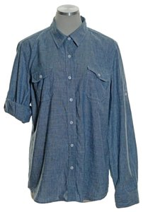 Jones New York Button Down Shirt Blue