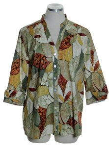 Alfred Dunner Button Down Shirt Multi-color