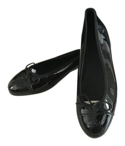 Chanel BLACK PATENT Flats