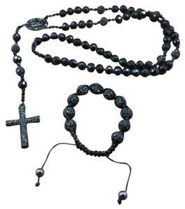 Other Black Shamballa Rosary & Bracelet Mens/Women