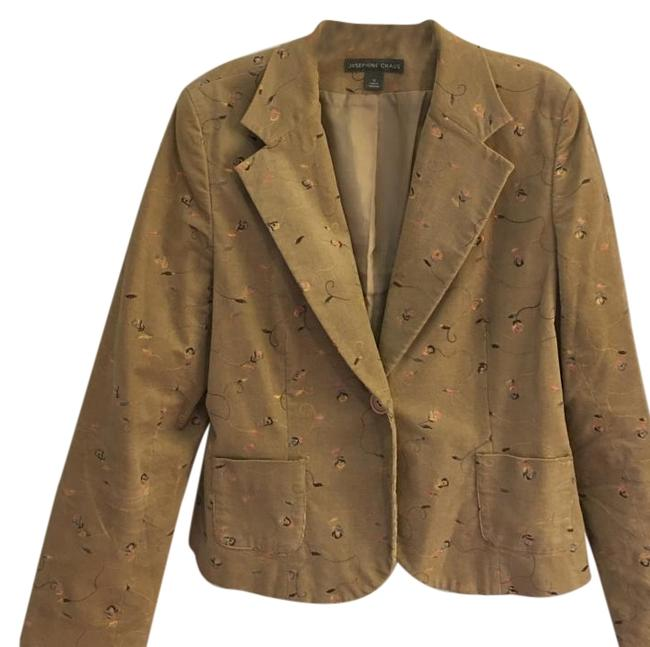 Item - Multicolor Lined Blazer with Embroidered Fabric Button-down Top Size 12 (L)
