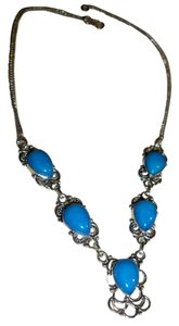 Silver Co. Royal Blue Chalcedony Silver Necklace