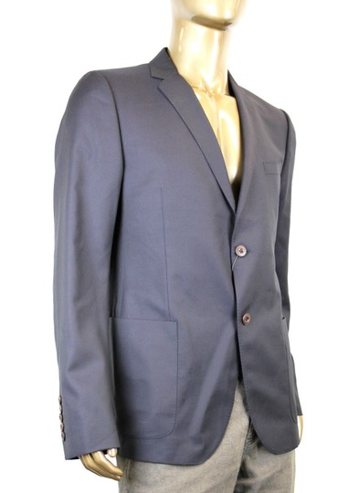 Gucci Navy New Men's Wool Jacket Chain Lining Eu 54/ Us 44 322573 4440 Groomsman Gift Image 1