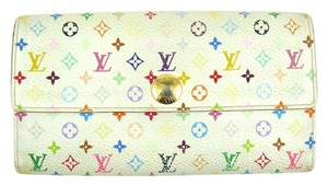 Louis Vuitton Monogram Mini Canvas Leather Sarah Clutch Wallet France