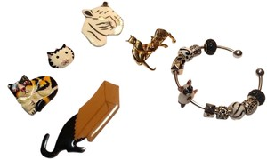 Crazy Cat Lady Pin Collection & European Bracelet