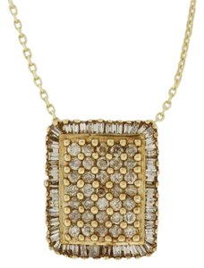 Other Diamond Rectangle Cluster Pendant in 10K Yellow Gold