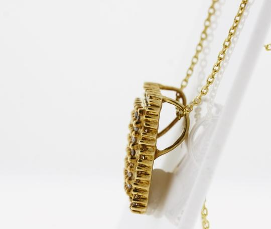 Other Diamond Rectangle Cluster Pendant in 10K Yellow Gold Image 1