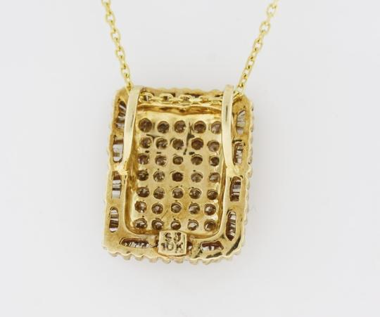 Other Diamond Rectangle Cluster Pendant in 10K Yellow Gold Image 2