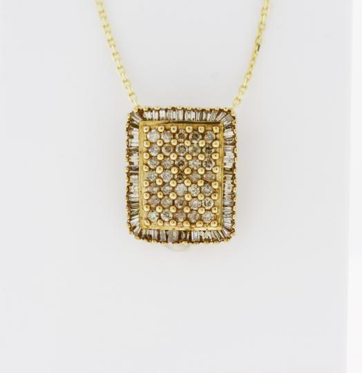 Other Diamond Rectangle Cluster Pendant in 10K Yellow Gold Image 3