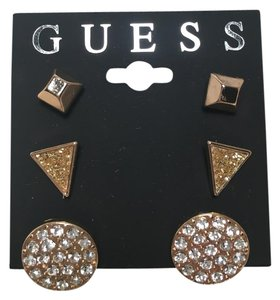 Guess NWT Guess 3 Pair Gold Tone Earrings