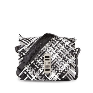 Proenza Schouler Fringe Leather Woven Elliot Shoulder Bag