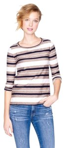 J.Crew Striped 3/4 Sleeve Cotton Sweater