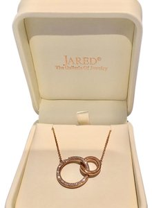 Jared miracle links rose gold diamond necklace Miracle Links