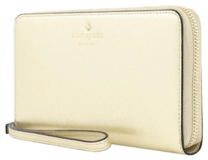 Kate Spade Kate Spade Metallic Gold Wristlet Wallet