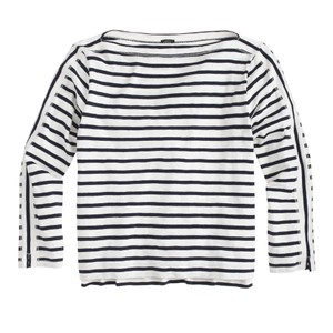J.Crew J. Crew Striped Pullover T Shirt Navy and White