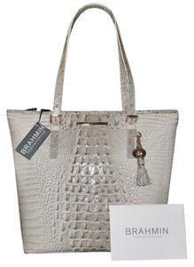 Brahmin Asher Leather (gray) Croco Emb Tote in Paloma Grey (Gray)