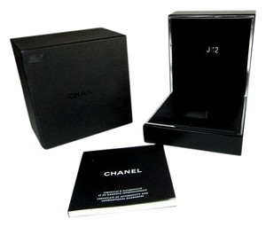 Chanel J12 Watch Box w/ Logo, Complete Outer, Inner & Manual