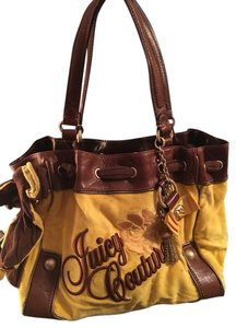 Juicy Couture Velour Leather Charms Shoulder Bag
