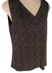 Alfani Black Polka Dot V-neck Sz Xl Top Multi Color
