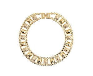 Juicy Couture Punk Royals Pave Stud and Chain Necklace