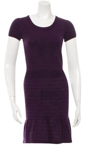 Sandro Eggplant Knit Shift Dress