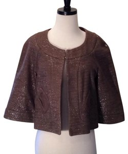 Topshop Brown sparkly Blazer