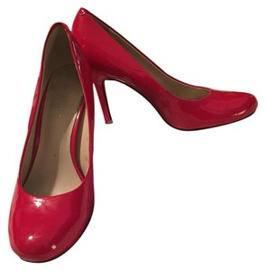 Nine West Patent Leather Red Pumps