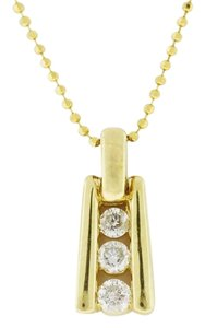 Diamond Bar Necklace -10k Yellow Gold Diamond Necklace - 0.35 cttw