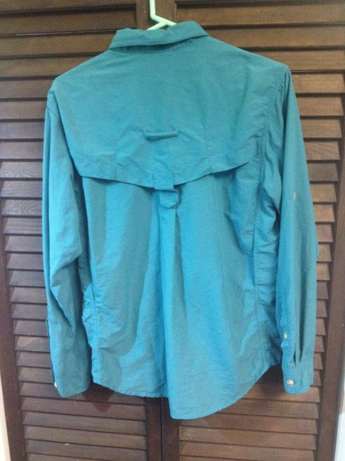 ExOfficio Traveling Hiking Button Down Shirt Teal