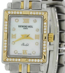 Raymond Weil Raymond Weil Parsifal Steel Gold Diamond 9630 19mm Quartz Watch