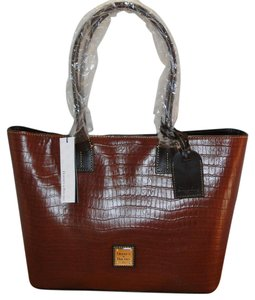 Dooney & Bourke Leather Croco Emb. Tote in Brown T'Moro